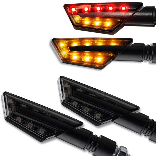 LED Blinker + Rücklicht/Blinker Paco schwarz getönt Set