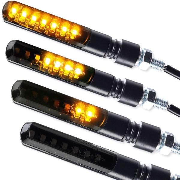 LED Blinker Sequentiell Blade schwarz getönt 4er Set