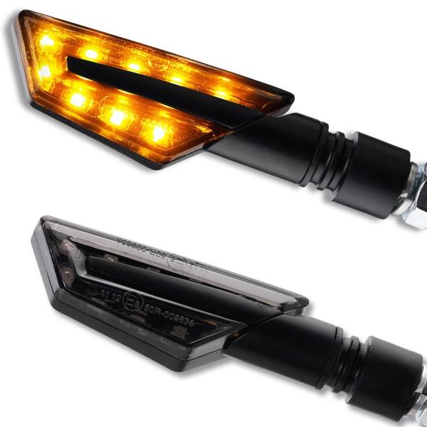 LED Blinker Paco schwarz getönt