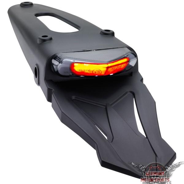 LED Rücklicht Triangle Stealth schwarz getönt mit Halter