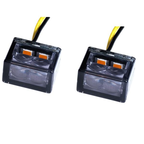 LED Blinker Cube schwarz getönt