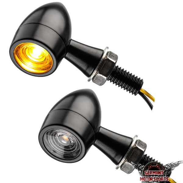 LED Blinker Bullet Clear schwarz klar