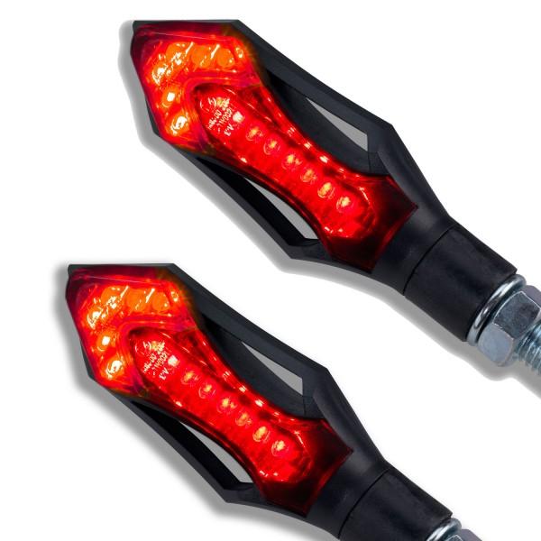 LED Rücklicht Bremslicht Rush schwarz getönt