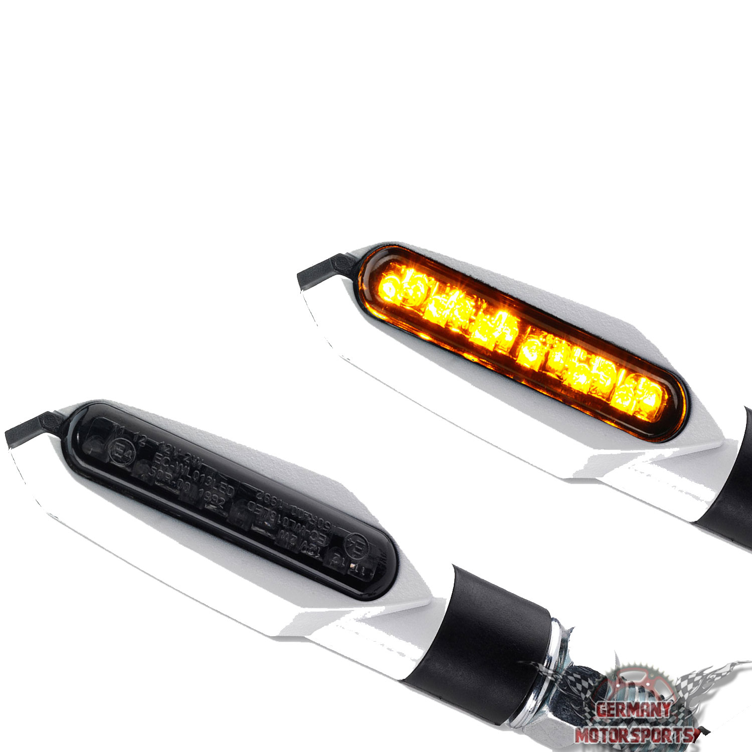 led motorrad blinker slight sl2 weiss germany motorsports. Black Bedroom Furniture Sets. Home Design Ideas