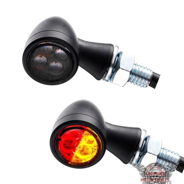 LED Rücklicht Blinker Zero schwarz getönt