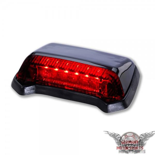 LED Rücklicht Fender schwarz rotes Glas