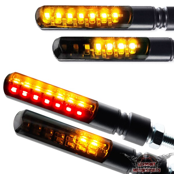 LED Blinker + Rücklicht Blinker Sequentiell Blade schwarz getönt