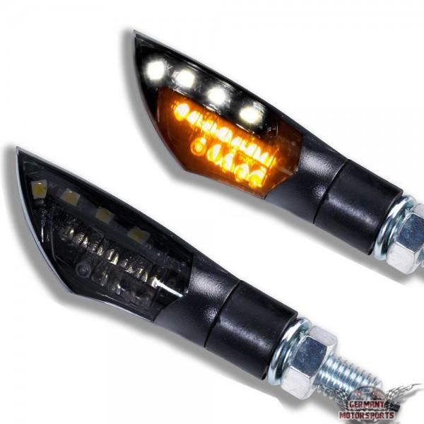 LED Blinker / Positionslicht Dual schwarz getönt