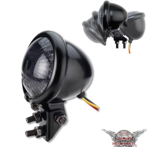 LED Rücklicht Bates Style schwarz getönt