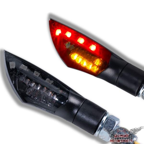 LED Rücklicht Blinker Dual schwarz getönt